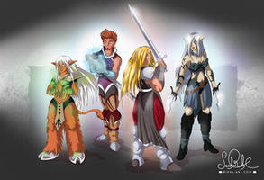 Four Fantasy Heroes by RiehlART
