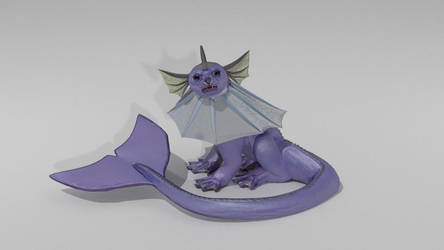 Pokemon: vaguely realistic vaporeon wip by Ryivhnn