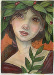 Maiden With Rowan Leaves by WhimsicalMoon