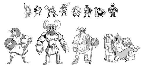 Fantasy Warriors (early 2013) by Emanhattan