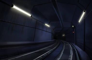 SCI-FI metro tunnel by Emanhattan
