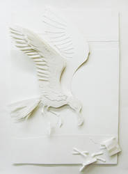 Paper Craft Seagull by swordtosoul