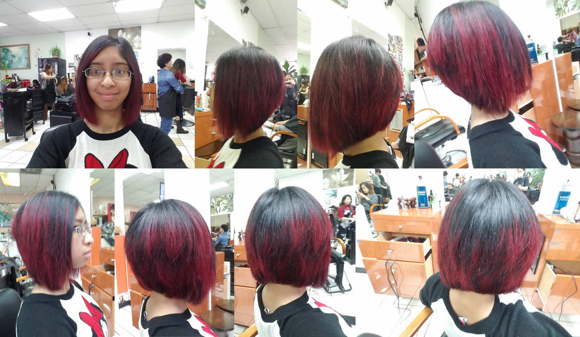 I Got A New Haircut With Dyed Red Streaks By Magic Kristina Kw On