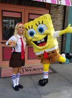 He and I as Spongebob's fan girl photo pose 2 by Magic-Kristina-KW