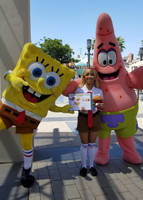 Me as Spongebob Girl with Spongebob and Patrick 2 by Magic-Kristina-KW