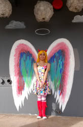 Me as Star Butterfly with colorful angel wings 2 by Magic-Kristina-KW