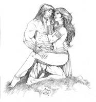 Conan and Belit by RubusTheBarbarian