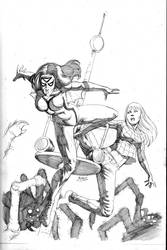 Spider Woman and MJ 2013 commission by RubusTheBarbarian