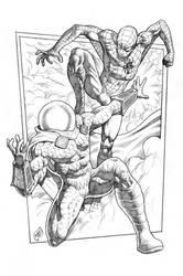 Spiderman vs Mysterio 2014 by RubusTheBarbarian