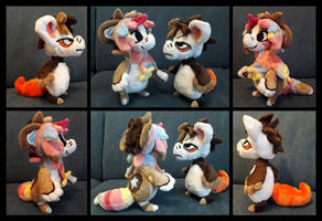 Amy and Donnie Plushies by MomosArts