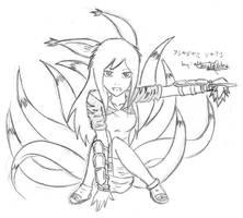 Ninetailed Fighter x3 by Ashayami