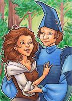 Last Unicorn: Molly and Shmendrick by AmyClark