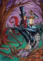 Grave Robber Halloween base card by AmyClark