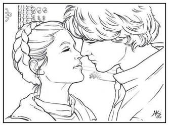 SW: Han n Leia by AmyClark