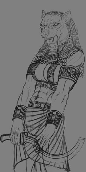 Sekmet sketch by LarsRune