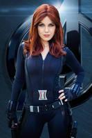 Winter Soldier Black Widow by MissScaryKitty