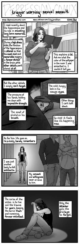 depression comix #412 [tw: sexual assault] by depressioncomix