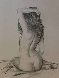 Charcoal study, nude 2 by RFord-Art