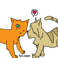 Sandstorm and Fireheart by swiirlsxxx