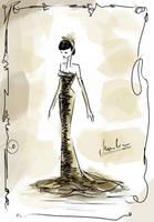 .:fashion illustration   figurine 3:. by StillesWasser
