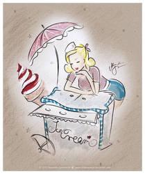 .:sugar ice cream pinup:. by StillesWasser