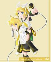 Rin and Len by Nairim-dA