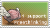 I support freethinking by laserCrome