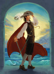 Will Turner, Red Cape by Leharc--BlueHeart
