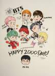 Happy 2000 Days to BTS! by RanRanArtish