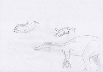 dinosaurs sketch #1 by maxlame