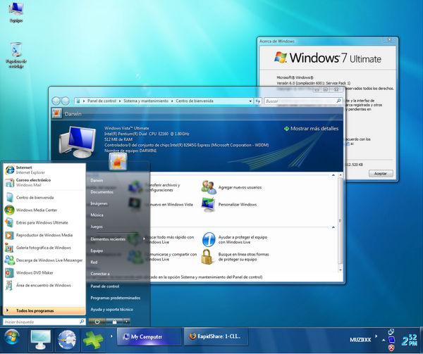 Windows Seven Rmix Xp by jack88star