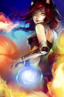 LoL: Foxfire Ahri by ippus