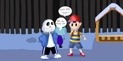 Sans and Ness [Cross-Style with TheBadGrinch] by Simobros17