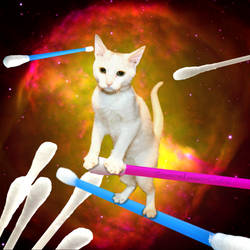 Qtips by SpaceLaserCats