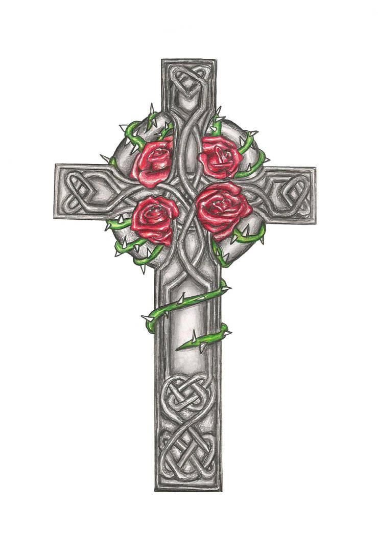 Celtic Cross Tattoo Design Commision By Laurenroseox On Deviantart