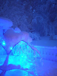 Pixi lights and snow by chibicthulhu