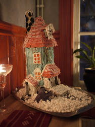 Moomin gingerbread house by chibicthulhu