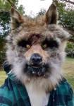 Natural Fur Werewolf Mask by CursedHearse