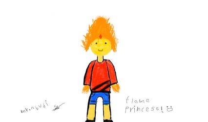 flame princess (first art) by mrabudi