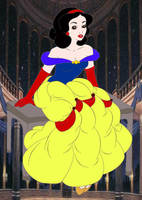 Snow White as Belle by kingdomdisney
