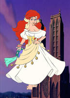 Ariel as Esmeralda I by kingdomdisney