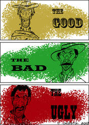 The Good, the Bad  the Ugly - poster by Orestix