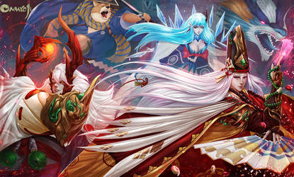 Onmyoji Fan Art Contest by Culu art by mr-Vy