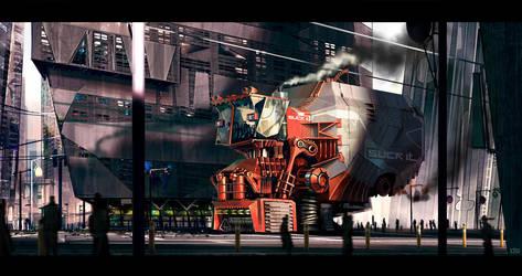 Giant Freakin Street Sweeper S by dannygardner