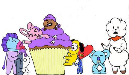 BT21 Cupcake by Kilohe