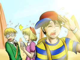 Mother 2: Desert Traveling by witch-girl-pilar