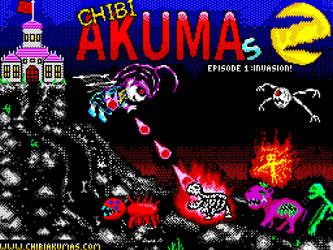 ChibiAkumas for the Msx - Title Screen by akuyou56