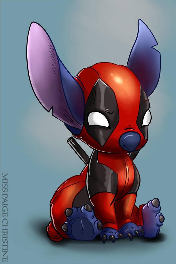 Deadpool Stitch by MissPaigeChristine