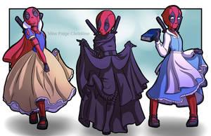 Disney Princess Deadpool by MissPaigeChristine