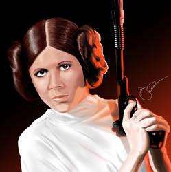 Princess Leia by lyonsartandmedia